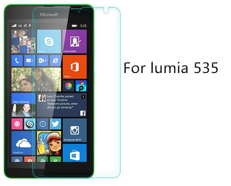0.3mm Tempered Glass film for Nokia Lumia 535 N535 9H Hard 2.5D High Transparent Screen Protector free shipping + Cleaning tool(China (Mainland))