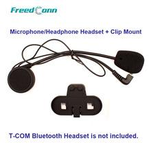 Free Shipping!!Freedconn Motorcycle T-COM Bluetooth Helmet Interphone Microphone/Headphone Headset + Clip Mount(China (Mainland))