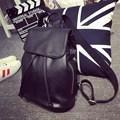 NEW Korean Trendy Preppy Style Backpack Side And Backside Zipper Pockets Women Black Drawstring Packsack Fashion