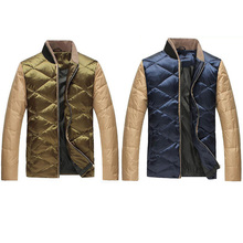 Jeansian Men's Winter Fashion Clothes Casual Collar Down Jacket XL XXL XXXL 4XL 2 Colors MCC009