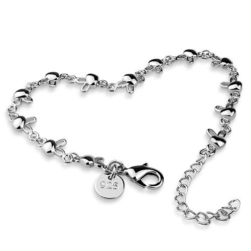Women 925 sterling silver charm bracelet solid genuine silver rabbit bracelet high quality(China (Mainland))