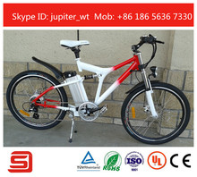 Full Suspension Bicicleta Eletrica 36V 10AH Li-ion Battery Velo Electrique JSE-76R(China (Mainland))