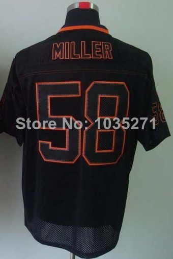 Wholesale Price #58 Von Miller Jersey,Lights Out Grey,Lights Out Black,Top Quality Jerseys,Embroidery Logos