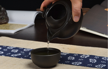 Purple sand pot black mud Quik ceramic shoulu handmade manual tea cup set
