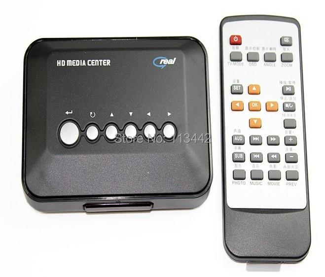 TV HD Media Player 720P Multi Media Video Player SD USB MKV RM RMVB AVI MPEG4 Center Remote Free Shipping(China (Mainland))