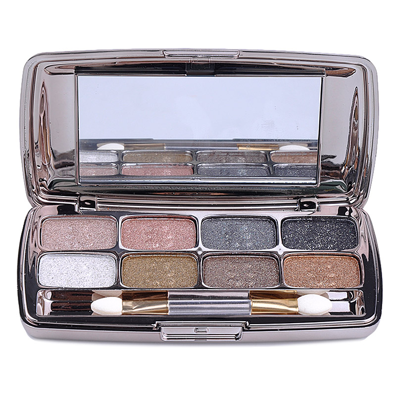 bright 8 Color Eyeshadow Palette Makeup Matte Eye shadow Palette Wholesale Professional Eyes Make Up With Brush(China (Mainland))