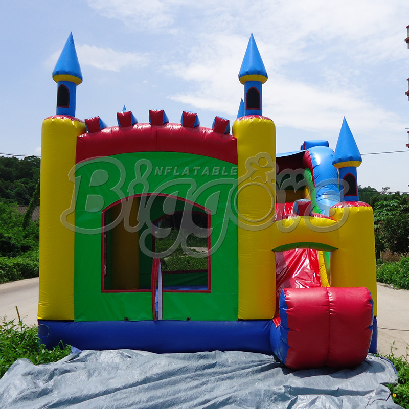 FREE SHIPPING BY SEA High Quality Inflatable Bouncer Kid Toy Inflatable Jumping Slide For Party(China (Mainland))