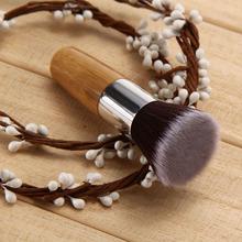 High Quality Flat Top Bamboo Handle Powder Foundation Brushes Cosmetics Professional Makeup Brush Set Hairbrush