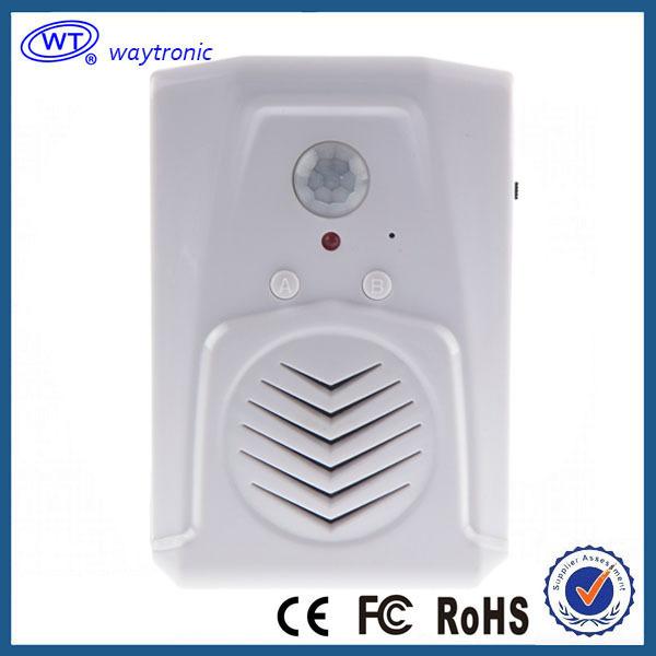 Free Shipping Micro SD Card PIR Motion Sensor Speaker, Advertisement Media Player, movement sensor,home alarm system(China (Mainland))
