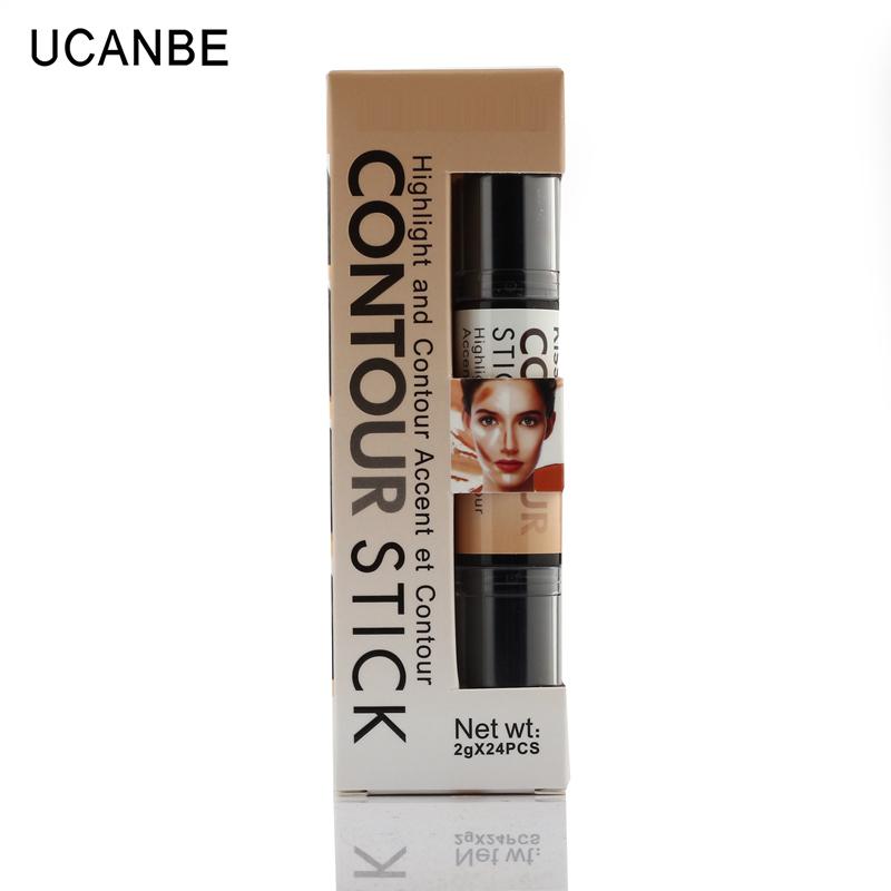 Maquiagem cremosa duas extremidades 2 in1 Contour vara contorno Bronzer Highlighter criar 3D Face maquiagem Concealer cobertura completa defeito