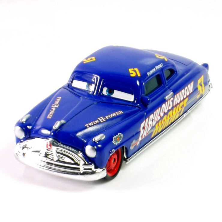 Pixar Cars Diecast Doc Fabulous Hudson Hornet Metal Toy Car For Children 1:55 Loose Brand New In Stock & Free Shipping(China (Mainland))