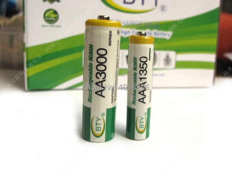 NEW 12pcs AAA 1350mAh BTY Ni MH Rechargeable Batteries for camera toys Free shipping