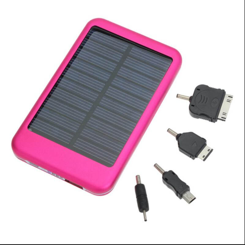 5000mAh portable solar power bank cell phone charger Ultrathin with USB port LED Torch promotion gift Solar Energy Pocket power(China (Mainland))