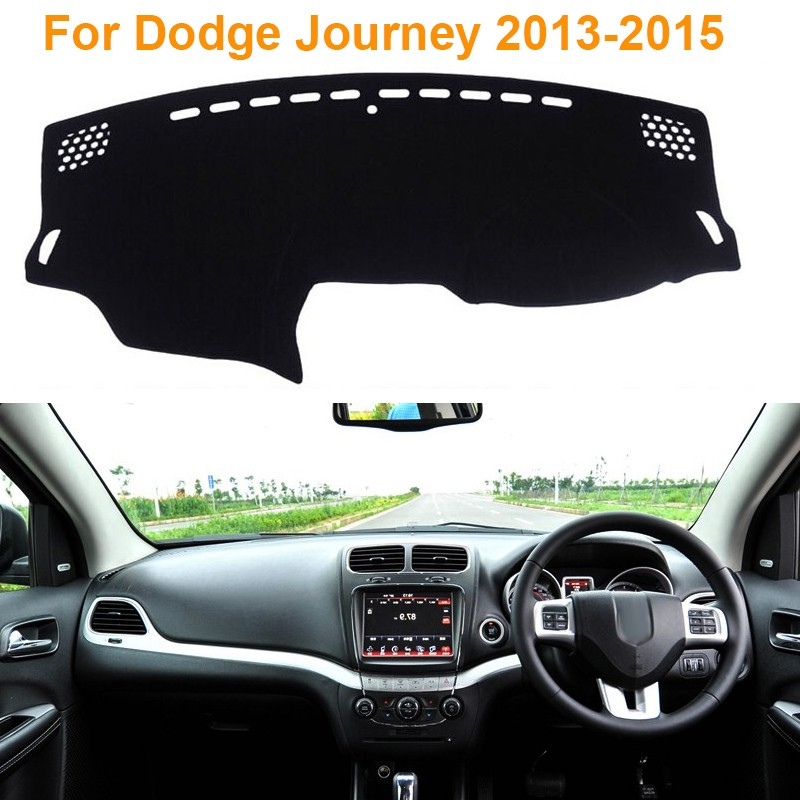 Фотография 2016Car Styling Polyester Dashboard Protective Mat Shade Cushion Photophobic Pad Internal Carpet For Dodge Journey 2013-2015 RDH
