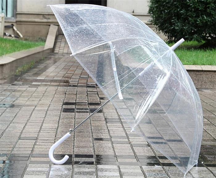 100pcs/lot Apollo umbrella Thicken Windproof Transparent Bubble Deep Dome umbrella(China (Mainland))