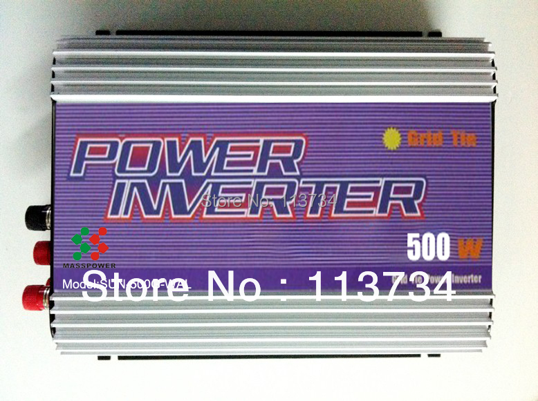 GTI 500W Wind Turbine on Grid Tie Inverter with dump load dc ac 12v 24v to ac 110/220v, for wind turbine power system(China (Mainland))