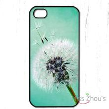 Teal Dandelion pretty Protector back skins mobile cellphone cases for iphone 4/4s 5/5s 5c SE 6/6s plus ipod touch 4/5/6