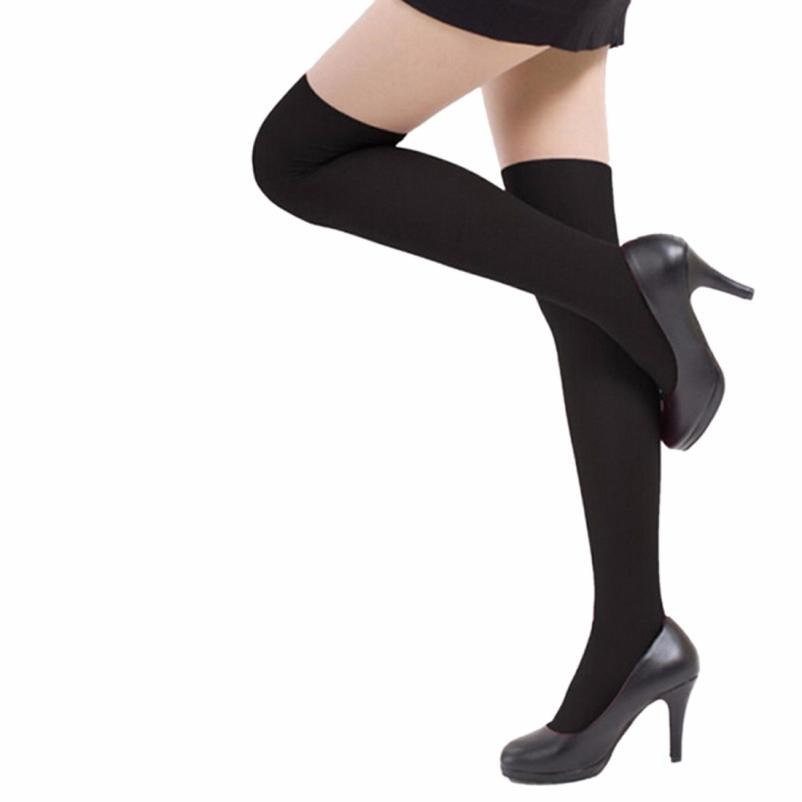 Free Shipping Womens Girls Fashion Stockings Medias Opaque Over Knee Thigh High Elastic Stocking New Top Quality Lowest price(China (Mainland))