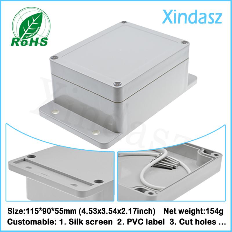 (XD-F3-1 5pcs/Lot)115*90*55mm (4.53*3.54*2.17inch)New arrival plastic box electronic waterproof enclosure <br><br>Aliexpress