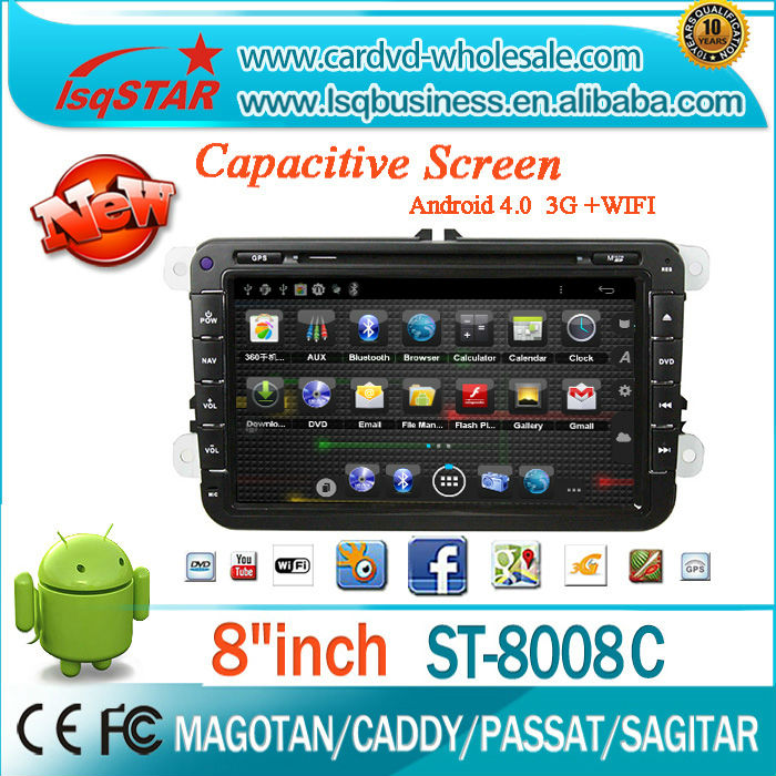 Capacitive Touch Screen Pure Android A10 Dual Core car radio for VW 2006-2012 car dvd with gps navigation OBD option(China (Mainland))