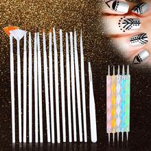 New 20pcs Set Nail Tools Polish Art Design Set Dotting Painting Nail Art Brush Drawing Nail Brush(China (Mainland))