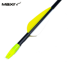 New X3 78 5cm Archery Arrow FRP 6878 Arrows 30 80lbs Fiberglass Yellow White Turkey Feathers
