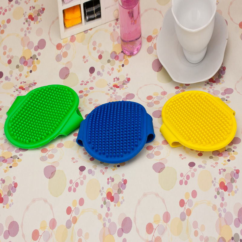 2015 Hot Sale Comfortable Pet Dog Bath Brush Comb Rubber Massage Brush Grooming Dog Cat Shower Cheaning Brush Glove(China (Mainland))
