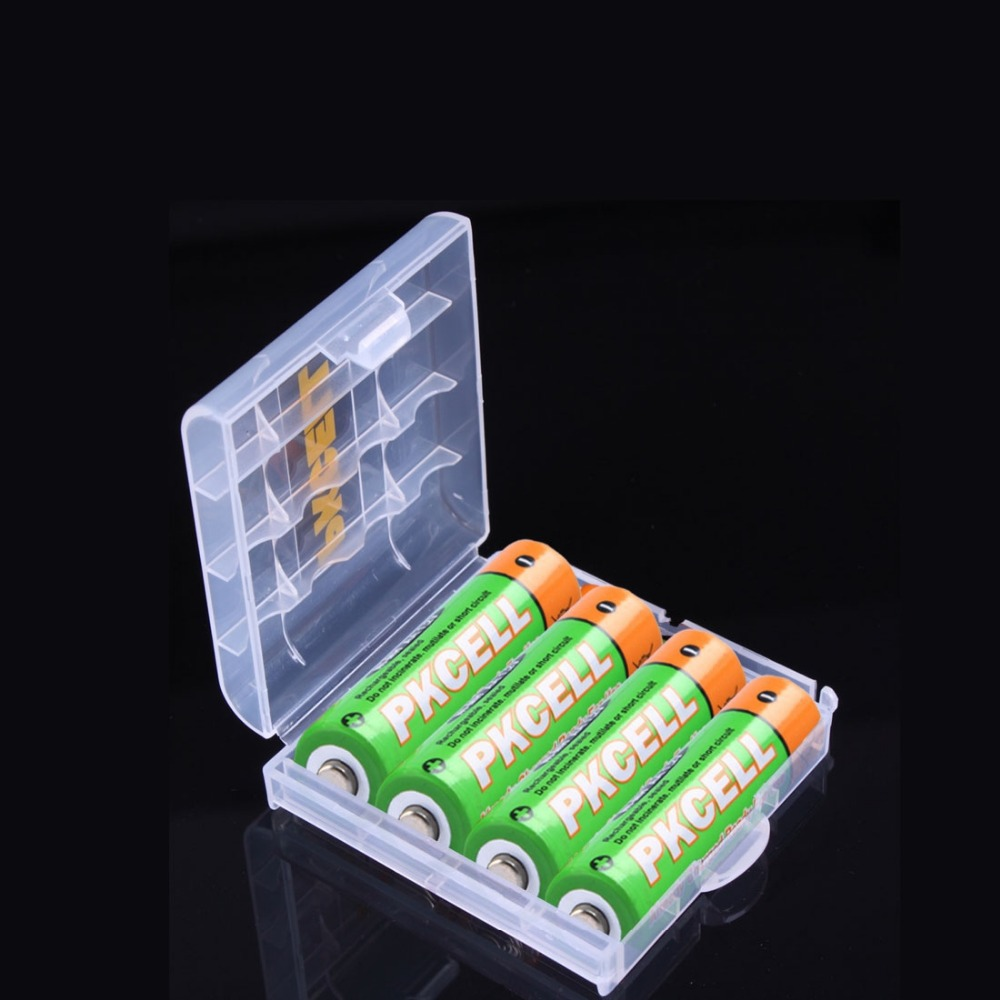 1 Piece Battery Box 4pcs Ni MH AA 1 2V 2200mAh Low self discharge Rechargeable Battery
