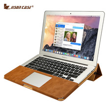 Jisoncase PU Leather Stand Cover Case For MacBook Air Pro Retina 11 12 13 15 inch Sleeve Luxury Leisure Laptop Bags & Cases(China (Mainland))