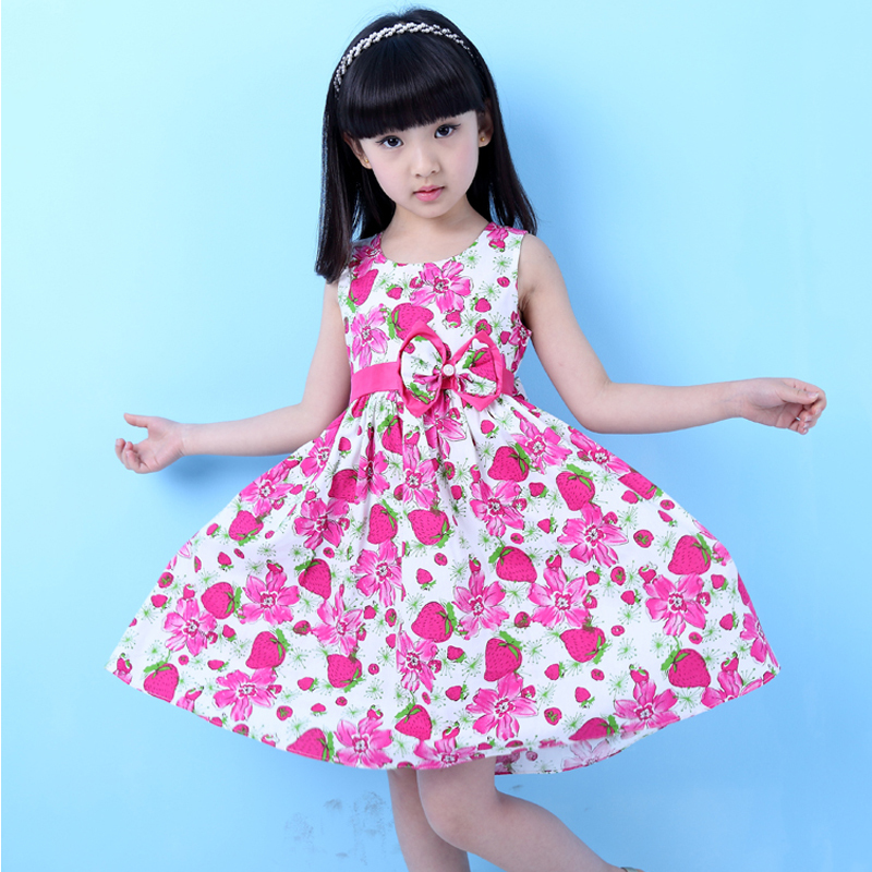 Kids Party Gowns 2015 Summer Cotton Dress Girls Beautiful Sleeveless Princess Girls Sundress fantasia reine des neiges CA023(China (Mainland))