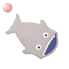 Baby winter & autumn Multifunctional Sleeping Bag infant Cartoon shark sleepsacks Infant Hold Envelope Quilt stroller cushion