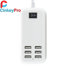 CinkeyPro EU Plug 6 Ports Multiple Wall USB Charger 15W 3A Smart Adapter Mobile Phone Charging Data Device For iPhone iPad(China (Mainland))