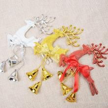 Running Deer bells home house decor hanging ornament pendent Christmas New Year xmas party decoration L45 - Lina's Store store