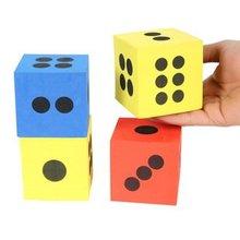 12PCS/LOT,6.8cm foam dice,Foam building block,Foam cube,Toy block,Early educational toys,Math toys,Kids toys,Mixed color(China (Mainland))