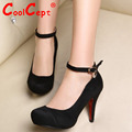 CooLcept Free Shipping Half Ankle Short High Heel Boots Women Snow