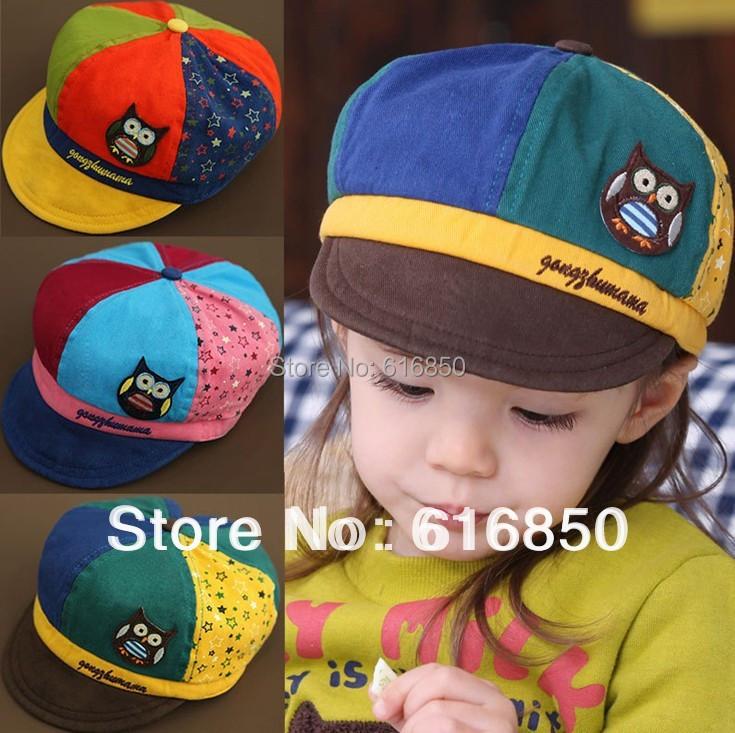 Children Baseball Caps For Girls Lovely Cartoon Baseball Hats 3D Owl Style Bone Kids Outdoor Sported Caps Children Accessories(China (Mainland))