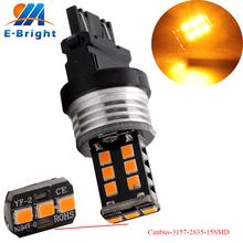 Buy 4-50-100-Pack 3157 2835 15 SMD Error Free Decoder Lamp Canbus 3047 3057 Bulb Reverse Lights DRL Turn Signal Light Brake Light for $9.08 in AliExpress store