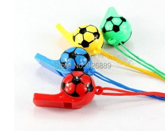 6pcs a pack Football shape whistle,can be referee's whistle and baby toy,Football World Cup in Brazil,Cheerleaders can use it(China (Mainland))