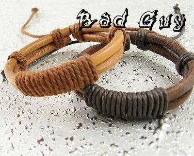 wholesale sl150 PU leather string bracelet men high quality casual leather bracelet Trendy Style fashion jewelry