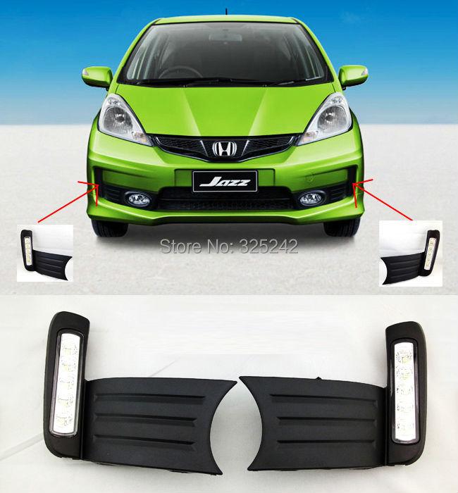 Дневные ходовые огни HOT Honda Fit 2011 дневные ходовые огни hyundai 2pcs set 15w 12v 6000k