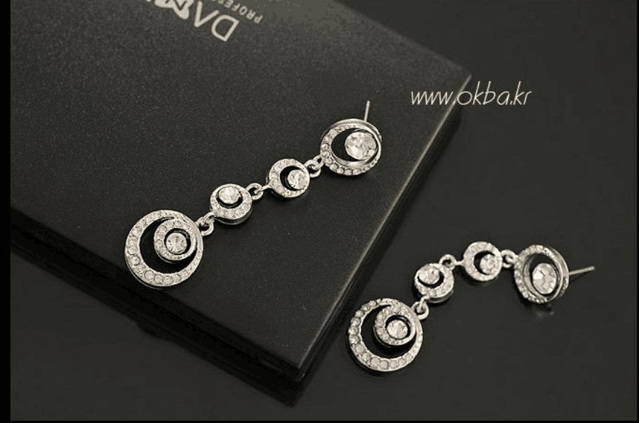 Oriental Beauty Bride Fashion Earrings Foreign Trade Circle ShanZuan Blasting Sources Stud Earrings(China (Mainland))