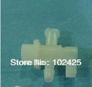 5pcs Inkjet printer plastic 3 way valve for solvent large format printer(China (Mainland))