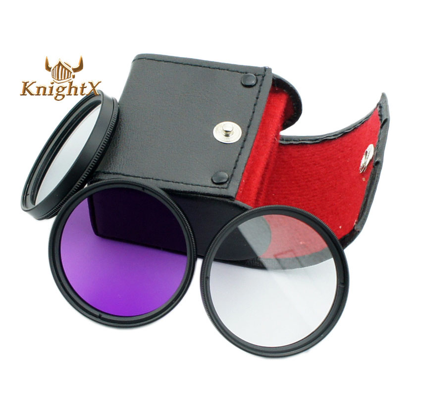 52mm 58mm 67mm 72mm Polarized CPL+UV+FLD CAMERA FILTER Kit bag for Nikon D3200 D5000 D5100 D7000 D40 D60 with 18-55mm Lens X(China (Mainland))