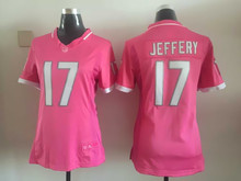 Women ladies all stitched PINK Chicago Bears # 17 Alshon Jeffery 22 Matt Forte(China (Mainland))