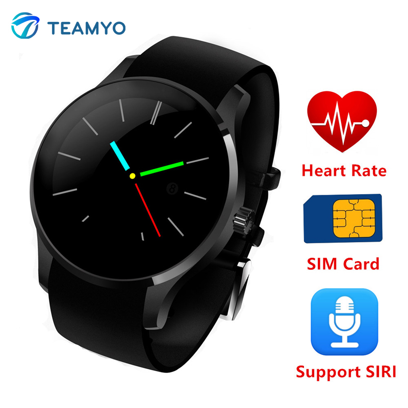 Фотография Luxury Round Bluetooth Smartwatch K88S Smart Watch Heart Rate Monitor Support Remote Camera SIRI SIM Sync SMS For Android IOS