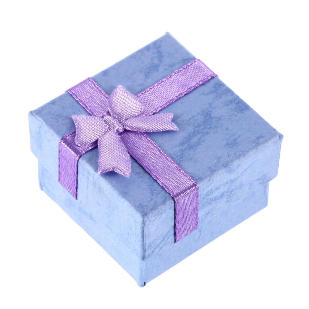 1pcs Earrings Ring Lilac Small Necklace Jewelry Gift Display Box 4*4*2.6cm 2016 Hot Sale(China (Mainland))