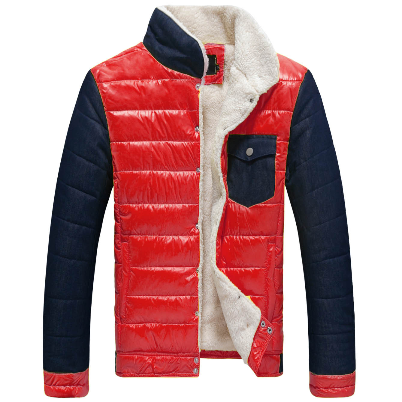 Men s winter clothes new collar color coat jacket youth SC coat large spot