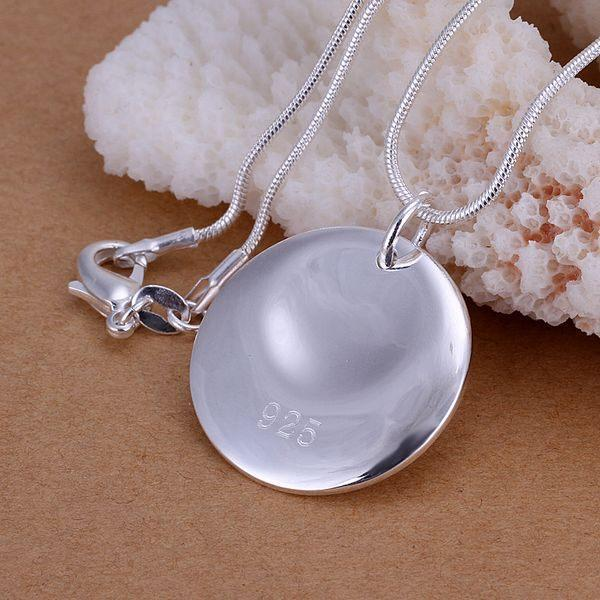 ZHJP067 lowest price wholesale fashion jewelry chain necklace 925 sterling silver Pendant Round cattle Pendant /blbakciast(China (Mainland))