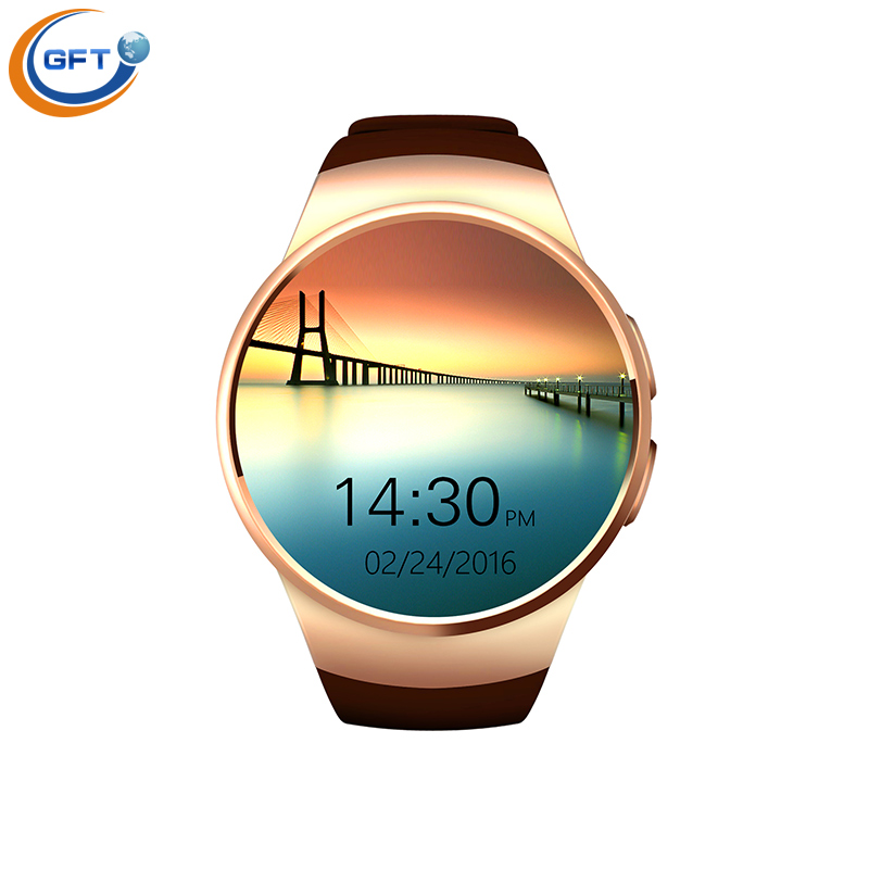 2016 newest hot sale GFT smart watch kw18 fashion business bluetooth styles Connectivity Apple iphone Android Phone(China (Mainland))