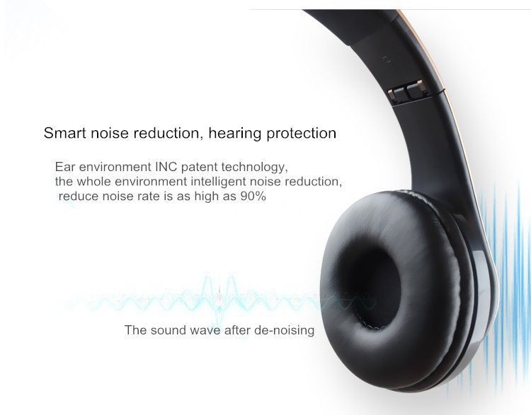 Hands Free Wireless Bluetooth Head Phones Support SD Card +FM Radio Bests Hifi Stereo Cordless Earphones Foldable Headset For iphone Mp3 (6)